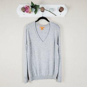 Joe Fresh Gray Cashmere Blend Knit Sweater